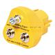 Warmbier 2201.245. Вилка заземления (2 кнопки 10 мм и 1 винт под клемму 4 мм)