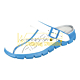Warmbier 2590.37312.46. Сабо ABEBA 37312, женские/мужские (цвет: белый/голубой, размер 46)